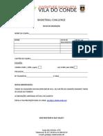 BASKETBALL CHALLENGE ficha de inscrição