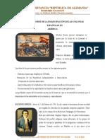 2. PRECURSORES DE LA EMANCIPACIÓN DE LAS COLONIAS ESPAÑOLAS,INDEPENDENCIA LATINOAMERICANA