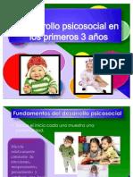 Desarrollo psicosocial en los primeros 3 años