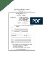 Golf Registration Form 2011