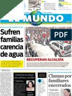 Portada El Mundo de Tehuacan 27jul2011