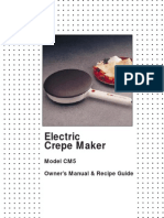 Maxim Crepe Maker CM5 Manual