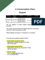 Korean Conversation Class August