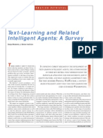 Text-Learning and Related Intelligent Agents - A Survey