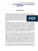 La propuesta sociopolítica de la pedagogía libertaria - Francisco Cuevas