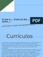 Currículos e carta de apresentação