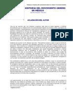 Orígenes e historia del movimiento obrero en México - Jacinto Huitron