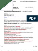 Customer Service Position - Hunting Ton Beach - 'Att.net Mail'