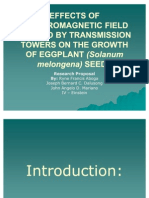 Effects of Electromagnetic Field Emitted by Transmission Towers
