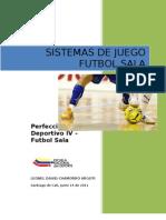 Sistemas de Juego Futbol Sala