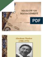 Maslow on Management Slides