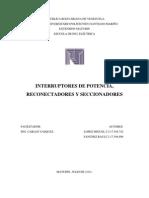 INFORME - Interrupt Ores de Potencia, Reconectadores y Secc Ion Adores