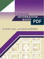 Catalog Information Materials