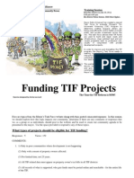 Funding TIF Projects