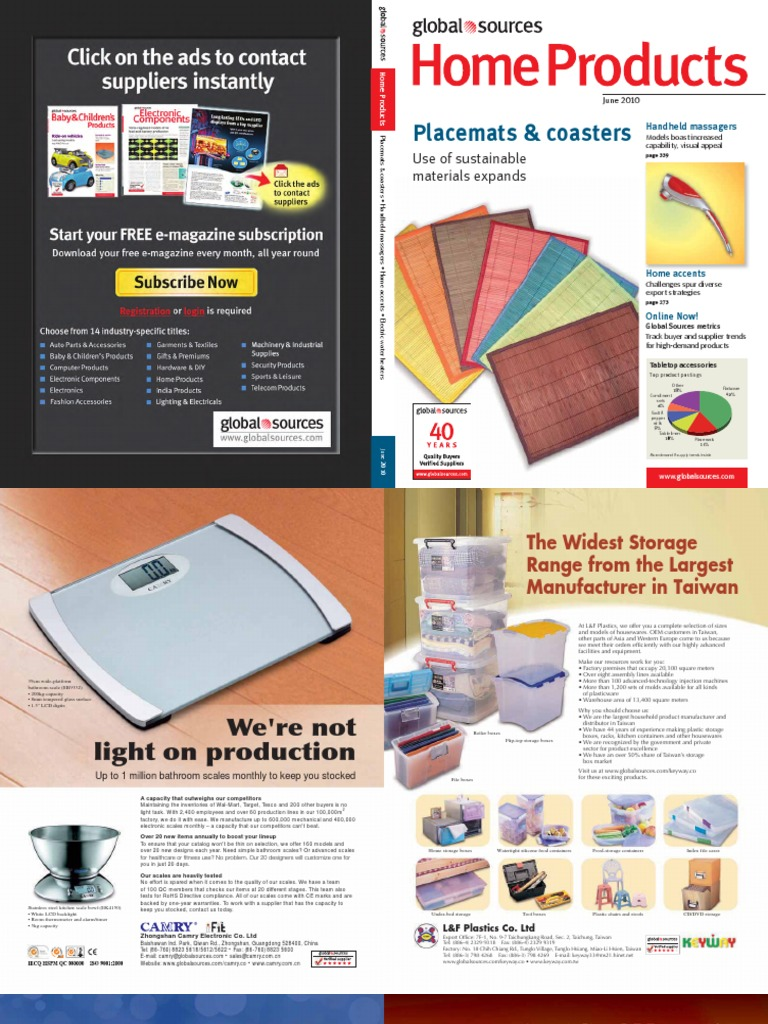 Global Sources - 2010 June - Home Products | Home Appliance | Manufacturing  And Engineering