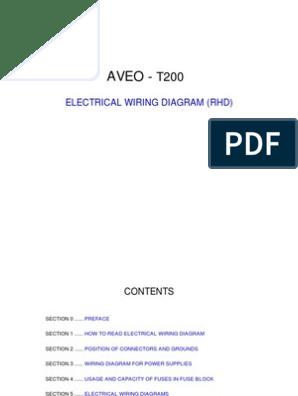 AVEO - Electrical Wiring Diagram | Anti Lock Braking System | SwitchScribd
