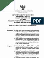 KEPUTUSAN MENTERI ENERGI DAN SUMBER DAYA MINERAL NOMOR 1480 TAHUN 2004