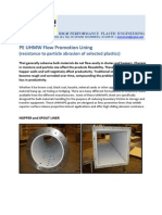 peuhmw and abrasion resistance test