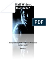 Half Widow Half Wife APDP Report