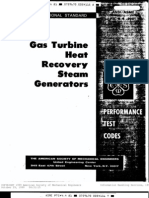 Asme Ptc 4.4 - Gas Turbine Heat Recovery Steam Generators