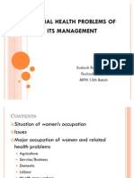Occupational Health Problems_women 2011
