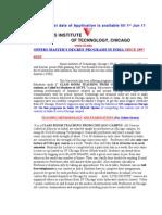 Brief of IIT -C Programs- 10-03-11