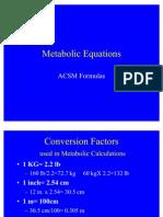 MET Equations