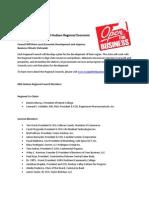 Membership List for Mid-Hudson Regional Economic  Development Council