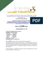 Parashat Maséi # 43 Adul 6011