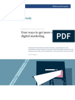 McKinsey - 4 Ways to Get More on Digital Marketing