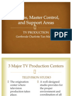 Studio, Master Control, And Support Areas