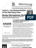 Chavs Event Flyer