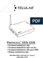 Telular SX5e GSM User Manual SPANISH