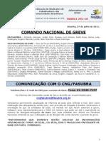 Informe de 27 de julho de 2011 do Comando Nacional de Greve