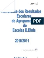 Relatório Final dos Resultados Escolares do Agrupamento 2010-2011