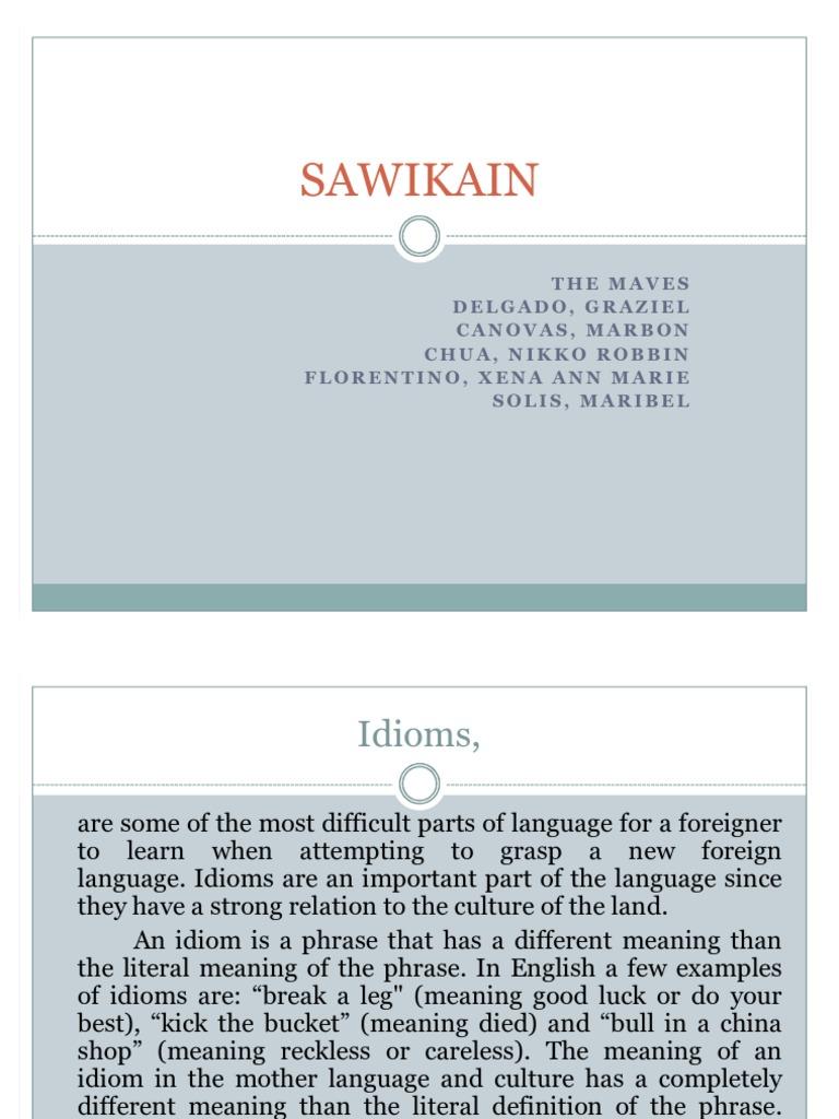 Sawikain