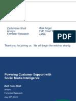 Social Media Intelligence for Customer Service