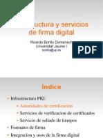 Infrastructura y servicios de firma digital