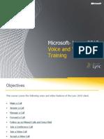 Microsoft Lync 2010 Voice and Video Training RTM