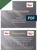 Factorización (factor común)