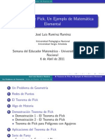 Teorema de Pick, Un ejemplo de Matemática Elemental