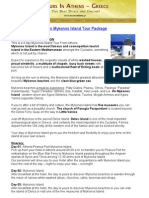 4 Days Mykonos Island Tour Package