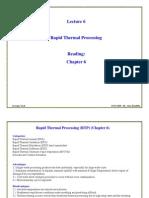 ECE6450L6-Rapid Thermal Processing