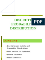 Discrete Distribution 1