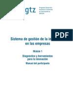 Módulo I   Sistema de gestión de la innovación  GTZ