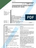 NBR 11174 - Armazenagem de Resíduos Classe II Não Inertes e III Inertes