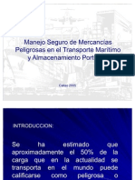 Manejo manipulacion de mercancías en zonas portuarias y maritimas