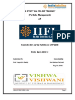 Project on Online Trading at IIFL Ashish Dwivedi