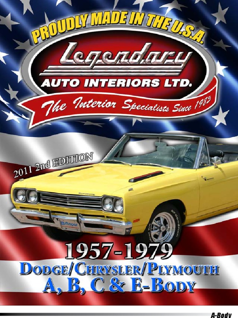 Legendary Auto Interiors Chrysler Catalog | Rear Wheel Drive