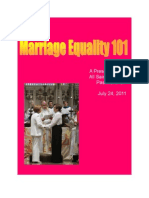 Marriage Equality 101